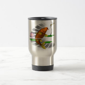 Japanese Koi Fish Pond Design Travel Mug