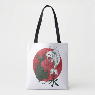 Japanese Koi Fish Yin & Yang Tote Bag
