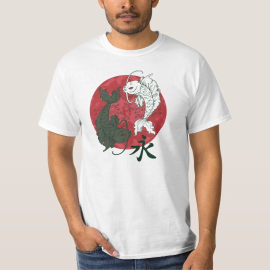 Japanese Koi Karp Yin and Yang design T-Shirt