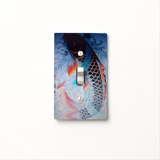 Japanese Koi Light Switch Cover