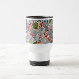 Japanese Koi Watercolor Travel Mug
