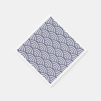 Japanese Koinobori Fish Scale in Delft Blue Disposable Napkins