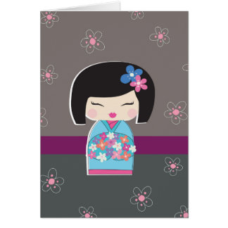 Japanese Kokeshi Doll Note Card