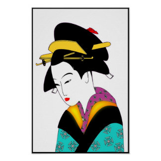 JAPANESE LADY_POSTER POSTER