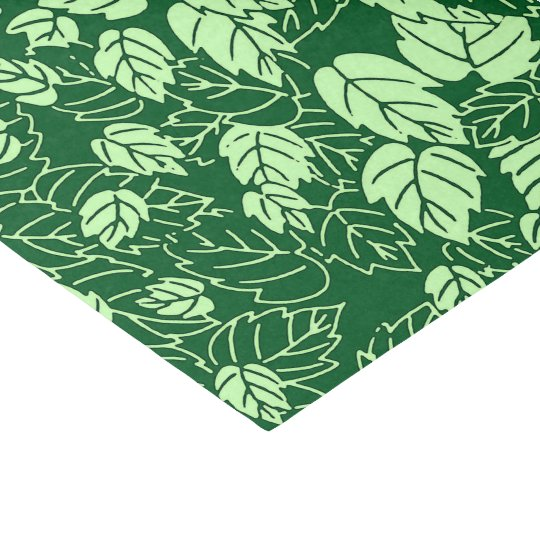 Japanese Leaf Print, Emerald and Lime Green Tissue Paper