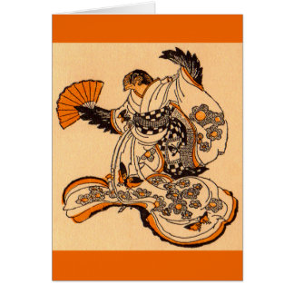 Japanese legend character The Tongue Cut Sparrow Card