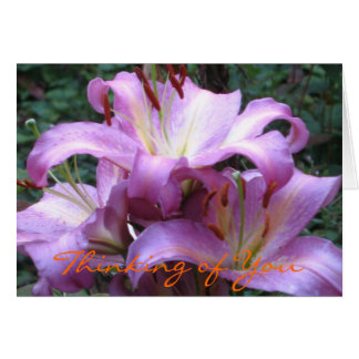 Japanese Lilies Card