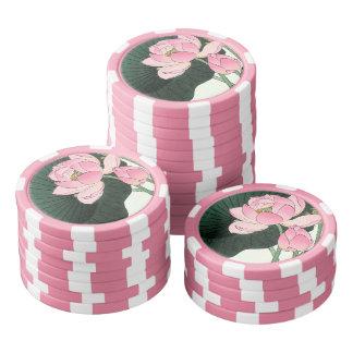 JAPANESE LOTUS FLOW Poker Chips