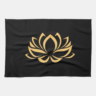 Japanese Lotus Flower Blossom Kitchen Towel