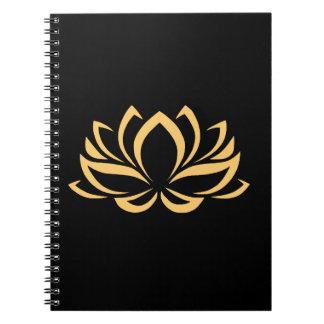 Japanese Lotus Flower Blossom Spiral Notebooks