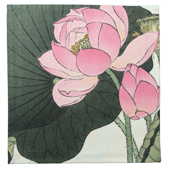 JAPANESE LOTUS FLOWER Cloth Napkins
