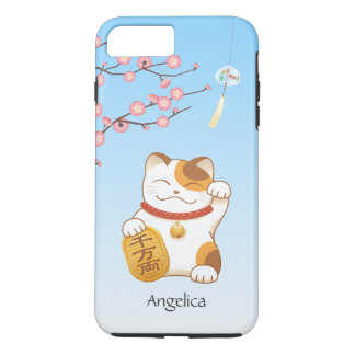 Japanese Lucky Cat, Calico Maneki Neko Case-Mate iPhone Case