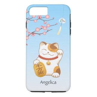 Japanese Lucky Cat, Calico Maneki Neko iPhone 8 Plus/7 Plus Case