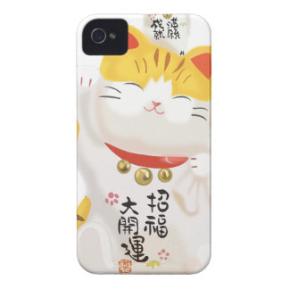 Japanese Lucky Cat iPhone 4 Case-Mate Case