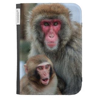 Japanese Macaque Monkeys Kindle Folio Case