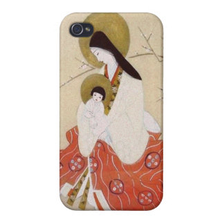 Japanese Madonna and Child Vintage iPhone 4 Cover