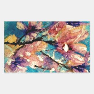 Japanese Magnolia watercolor batik