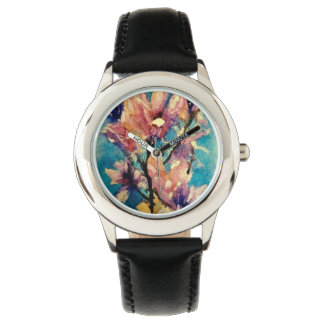 Japanese Magnolia watercolor batik Watch