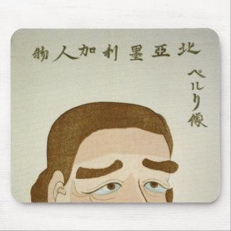 Japanese man Thinking Mouse Pad