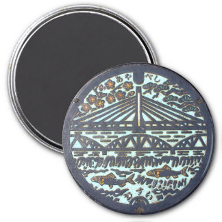 Japanese Manhole Cover – Bridge Magnet