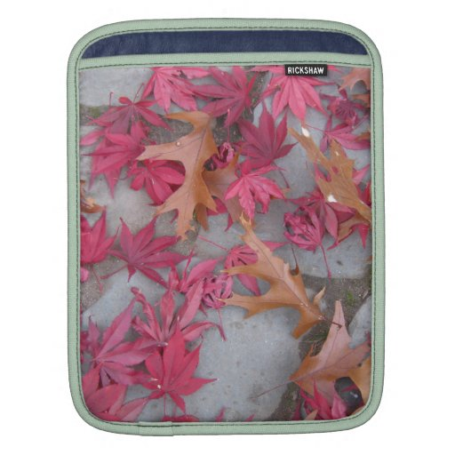 Japanese maple and Oak leaves Sleeves For iPads