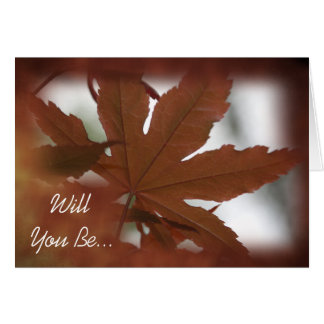 Japanese Maple Leaf Will You Be My Groomsman Card