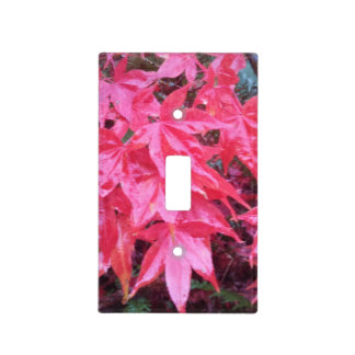 Japanese Maple Leaves Acrylic Light Switch Cover