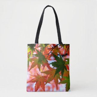 Japanese Maple Leaves in Autumn Tote Bag