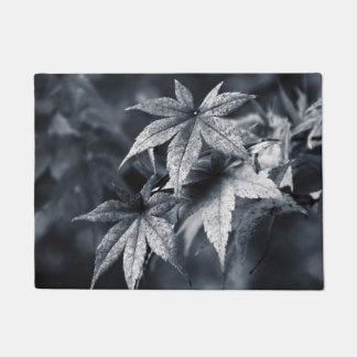 Japanese Maple Leaves in Deep Blue Doormat