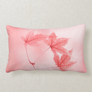 Japanese Maple Leaves in Red Lumbar Pillow