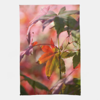 Japanese Maple Leaves Kitchen Towel