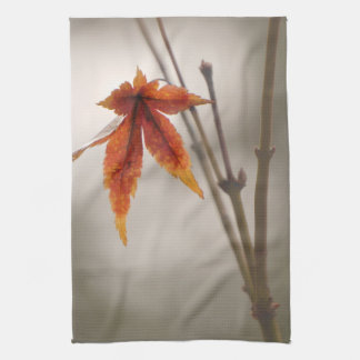 Japanese Maple Leaves Vintage Style Kitchen Towel
