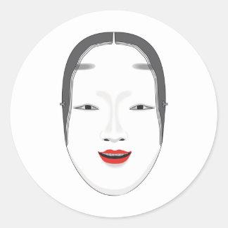 Japanese Mask Classic Round Sticker