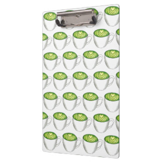 Japanese Matcha Green Tea Latte Teacup Foodie Clipboard