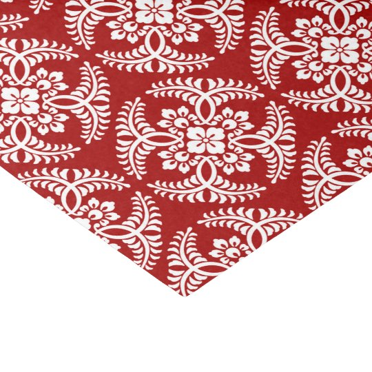 Japanese Medallion Pattern, Deep Red and White Tissue Paper