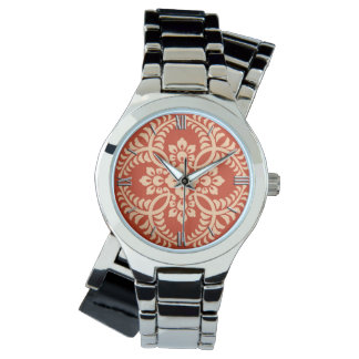 Japanese Medallion Pattern, Mandarin Orange Watch