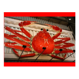 Japanese Neon Crab Postcard