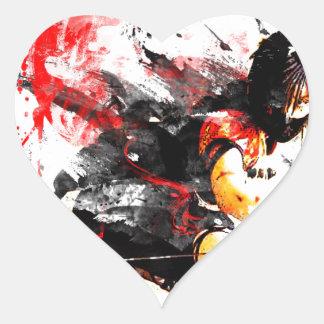 Japanese Ninja Heart Sticker