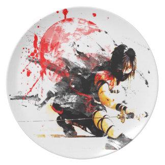 Japanese Ninja Party Plates