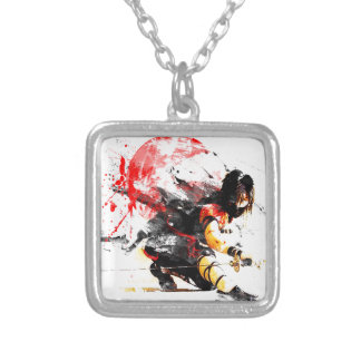 Japanese Ninja Silver Plated Necklace