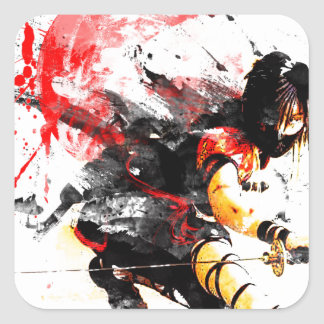 Japanese Ninja Square Sticker