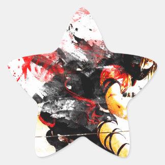 Japanese Ninja Star Sticker