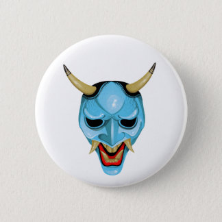 Japanese Oni Mask 2 Inch Round Button