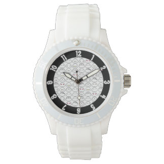 Japanese Onigiri Fluo Pattern Wrist Watches