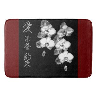 Japanese Orchids Bath Mat