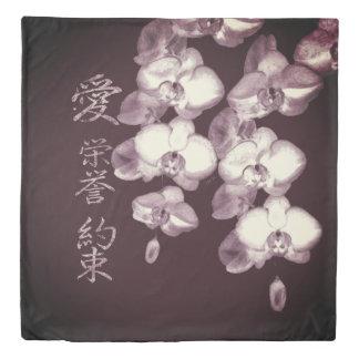 Japanese Orchids Duvet Cover