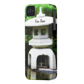 Japanese Pagoda Lantern Garden Ornament iPhone 4 Case-Mate Cases