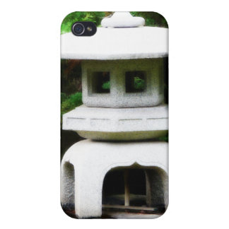 Japanese Pagoda Lantern Garden Statue iPhone 4 Cases
