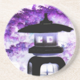 Japanese Pagoda Ornament Art Coaster