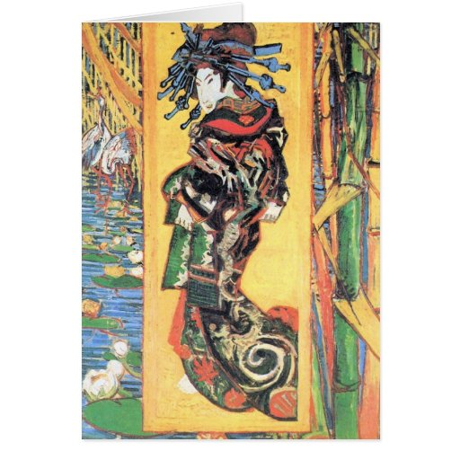 Japanese painting by Vincent van Gogh Card